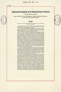 The first page of the Voting Rights Act (1965).
